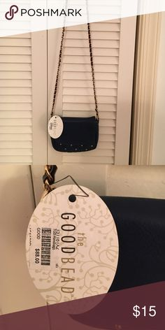 NWT The Good bead navy tiny but beautiful. New with tags!!Fantastic casual bag for jeans. Navy NWT. Pocket inside. Cutest little bag!!! The good bead Bags Crossbody Bags