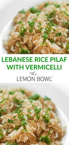 This traditional Lebanese side is made with one of my favorite ingredients, clarified butter! This Lebanese Rice Pilaf is loaded with so many unique flavors! Kitchen Recipes, Cooking Recipes, Healthy Recipes, What's Cooking, Healthy Eats, Delicious Recipes, Easy Recipes, Geklärte Butter, Clarified Butter