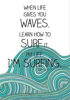 I'm surfing