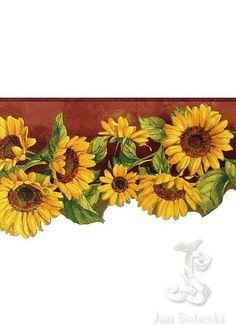 sunflower wallpaper border Sunflower wallpaper