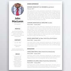 Law Resume Template For Modern Professionals Suitable As Serious