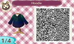 animal crossing new Leaf qr codes — I made a hoodie with and without stars