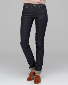 apc petit standard raw denim. these look like the most perfect jeans ever.