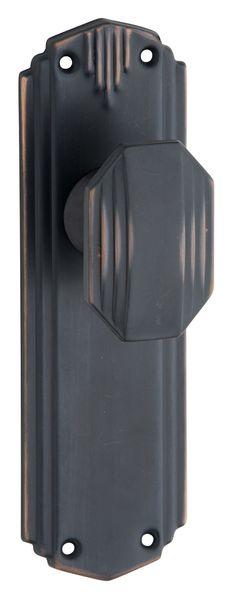 Art Deco Door Knobs   Straight Art Deco Door Knob Range