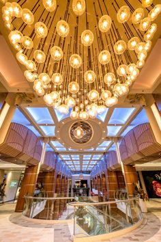 Anthem of the Seas | Interact with the Pulse Spiral installation, which illuminates rhythmically with the either the beat of your heart, or the tempo of the music.