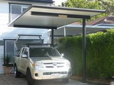 Cantilevered carport