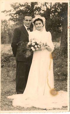 Vintage wedding family picture. Calmetbk@blogspot.com