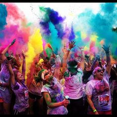 Happy Color Runners! thecolorrun