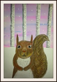 Modify for 1st+ winter mountains? winter squirrels 6th grade MaryMaking