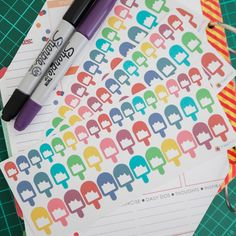 41 Ice-Creams Sticker Planner  // Perfect for Erin Condren Life Planner by FasyShop on Etsy