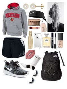 """""""Athletic 1"""" by ella-goodness on Polyvore featuring NIKE, S'well, Belk & Co., The North Face, LifeProof, Chanel, Christian Dior, NARS Cosmetics, Lime Crime and MAC Cosmetics"""