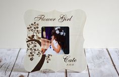 Personalized Flower Girl picture frame Wood by CustomWoodWonders