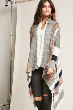 2820ace0b78 Product Name Multicolored Open-Front Cardigan
