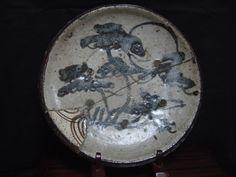 "Seto plate with joined ""Horse Eye"" shard, Edo period, Japan"