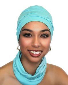 Ladies' Beanie and Headband Set Aqua Teal