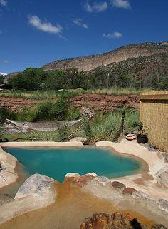 Giggling Springs Hot Springs in Jemez Springs, New Mexico