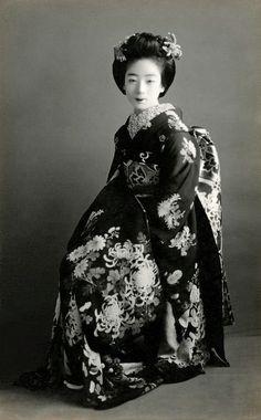 "1920's, Japan. ""The maiko [apprentice geisha] and geiko..."