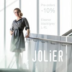 JOLIER restock -10% pre-order price drop still active for a limited time!! The upcoming restock for Eleanor L-XL black↔️grey two way dresses (image) now almost sold out! Place your pre-orders quickly! Business Casual jolier.com since 2008✌ Reversible Dress, Dress Images, Price Drop, Business Casual, Black And Grey, Clothes, Collection, Color, Tops