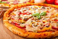Пицца с опятами из бездрожжевого