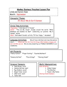 Bf Cb Fe Af A Fd B Lesson Plan Format Lesson Plans on sensorial education my five senses printable