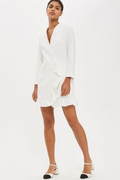 Frill Hem Blazer #Dress   Topshop.com