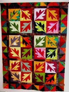 Image result for modern oak leaf quilt pattern