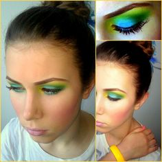 Rainbow make up (mostly because people post it all the time... but really only do it on halloween)
