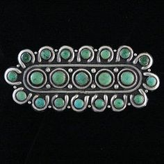 Brooch | Designer ? (Navajo).  Silver and turquoise.  ca. 1950s.