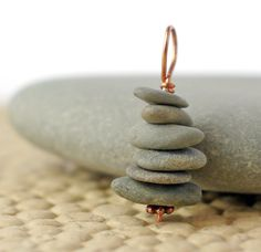 Cape Cod Beach Stone and Copper Cairn pendant to by Jewelsverne, $15.00