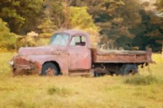 Old Truck Photograph Rusty Truck by AmericanaArtByEllis on Etsy, $30.00