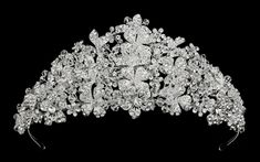 """Stunning 3"""" Tall Floral Crystal Quinceanera and Wedding Tiara - Affordable Elegance Bridal -"""