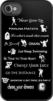 Best iPhone case ever! All the lessons you should have learned from Disney.
