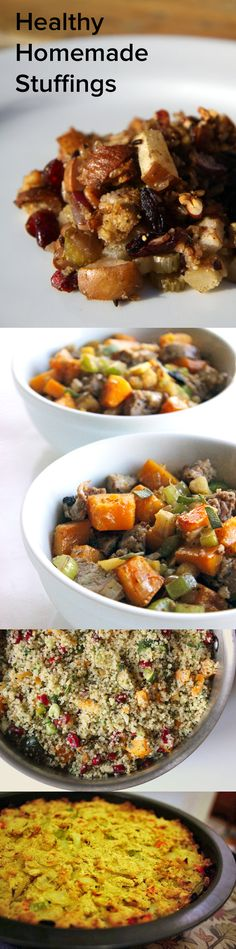 6 healthy stuffing recipes for your thanksgiving feast food Healthy Thanksgiving Recipes, Vegan Thanksgiving, Healthy Diet Recipes, Holiday Recipes, Whole Food Recipes, Vegan Recipes, Healthy Eating, Cooking Recipes, Vegan Christmas