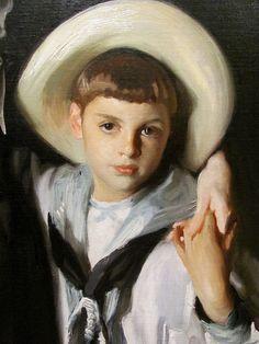 John Singer Sargent (detail) Portrait of Mrs. Edward L. Davis and her son, Livingston Davis, 1890. Oil on canvas (1856-1925) LA County Museum