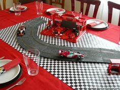 Decoracion de mesas: Mesa cumpleaños de Ferrari