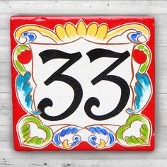 Italian Rose House Number Plaques Hand Painted Numbers Ceramic Fl Plaque Things I Like