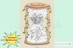 Cute Printable COLORING Page - Printable Progress Tracker - Goal Tracker - Floral Hourglass Design - Hourglass Coloring Page Coloring Pages, Colouring, Printable Planner, Printables, See You Again Soon, Planner Dashboard, Cute Planner, Study Planner, More Cute