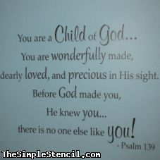 You are a child of God bible verse from Psalm 139 made into a beautiful vinyl wall sticker for your babies nursery or childrens room - Rooms Inn The House Psalm 139, Bible Verses Quotes, Bible Scriptures, Powerful Scriptures, Prayer Verses, Verses For Kids, Bible Quotes For Children, Bible Verse For Baby, Bible Verse For Birthday