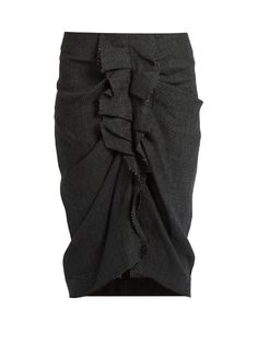 Isabel Marant Étoile Jorga Prince of Wales-checked linen skirt