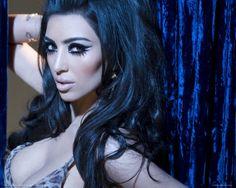 Dramatic eye makeup #Kim #Kardashian