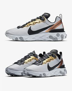 """save off 4aab3 f7683 THE DROP DATE on Instagram  """"The NIKE REACT ELEMENT 55 GOLD are scheduled  for release TOMORROW MARCH 1 at 08 00hrs GMT... - Hit the link in our bio  for ..."""