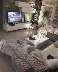 Beautiful luxury comfy living room designs for small spaces ideas 9 – fugar.sepatula room decor grey Beautiful luxury comfy living room designs for small spaces ideas 9 Living Room Decor Cozy, Interior Design Living Room, Interior Livingroom, Design Interiors, Living Room Goals, Cosy Living Room Grey, Home Living Room, Living Room Ideas For Small Spaces, Gray Room Decor