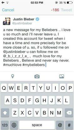 The new account of Justin Bieber @_b_i_z_z_l_e_ goooo !! #newjustinsaccount
