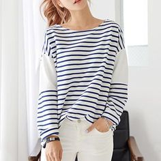 Buy DEEPNY Striped Long-Sleeved T-Shirt at YesStyle.ca! Quality products at remarkable prices. FREE SHIPPING to Canada on orders over CA$45.