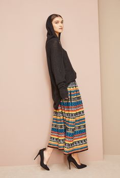 colourful, bohemian skirt in wool #fw16 #fashion #colours #boho