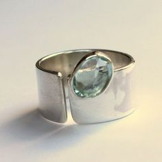 Spirits Of The Sea - Sterling Silver Ring with Aquamarine