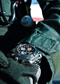 "BREITLING Chronomat 44 GMT ""Patrouille Suisse 50th Anniversary"" - Pilot"