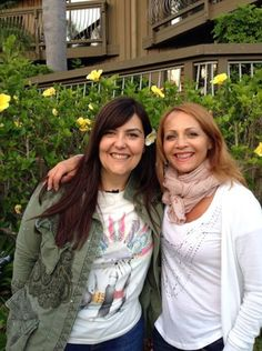 Barbara (Il VOLO Road manager) and Eleonora (Gianluca's Mother) on tour #summertour2014