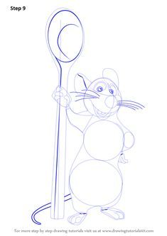 Learn How To Draw Remy From Ratatouille Ratatouille Step By Step Drawing Tutorials In 2020 Drawing Tutorial Drawings Draw
