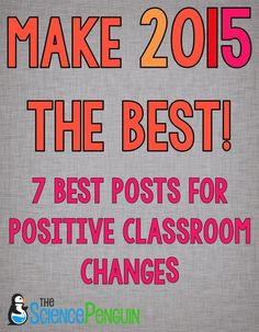 Make Your New Year Great! 7 BEST posts for positive classroom changes
